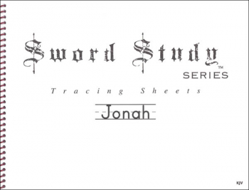 Jonah Sword Study Tracing Sheet - King James Version