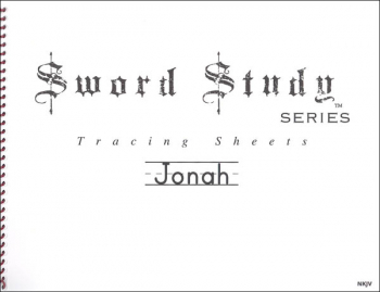 Jonah Sword Study Tracing Sheet - New King James Version