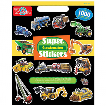 Construction Super Stickers Book