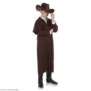 Brown Wild West Duster Coat - Large