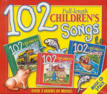 102 Children's Songs Music CD 3-Pack
