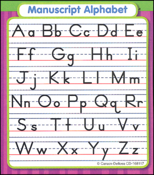 Manuscript Alphabet Study Buddy Sticker