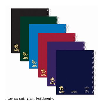 "Left-Handed 3 Subject College Ruled 11""x9"" Notebook 120 sheets"