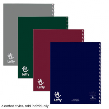 "Left-Handed 1 Subject College Ruled 11""x9"" Notebook 100 sheets"