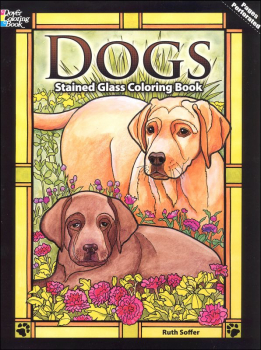 Dogs Stained Glass Stained Glass Coloring Book