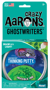 "Invisible Ink Putty 4"" Tin with Glow Charger (Ghostwriters)"