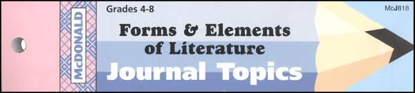 Forms & Elements of Literature Journal Booklet