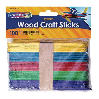 "Craft Sticks - 60 5.75"" Jumbo Colored"