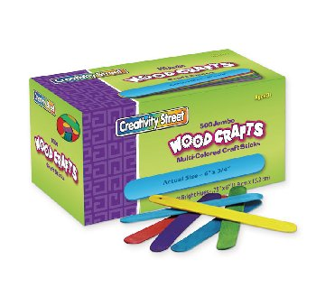 "Craft Sticks - 500 6"" Jumbo Colored"