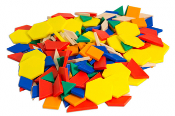 Pattern Blocks - .5 cm-Thick Plastic (Set of 250)