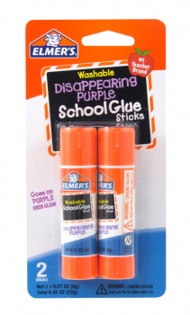 Elmer's Disappearing Purple Glue Stick 2 count - .21 oz.