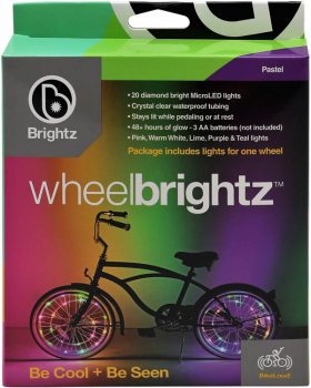 Wheel Brightz Bike Tire Lights - Pastel