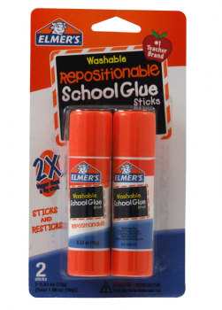 Elmer's Repositionable Glue Stick 2 count - .53 oz.