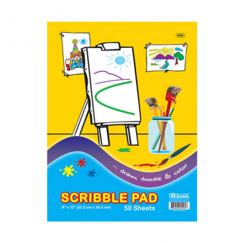 "Scribble Pad 9""x12"" (50 pages)"