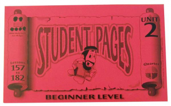 Beginner Student Pages for Lessons 157-182