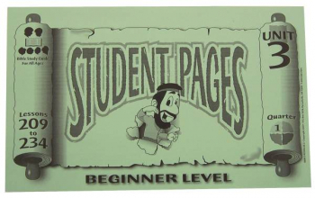 Beginner Student Pages for Lessons 209-234