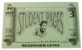 Beginner Student Pages for Lessons 235-260
