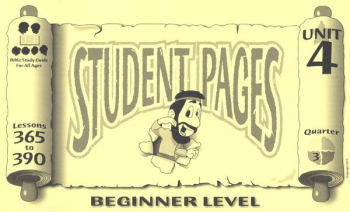 Beginner Student Pages for Lessons 365-390
