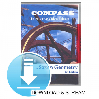 Compass Download & Stream Saxon Geometry 1st Edition