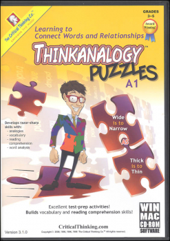 ThinkAnalogy Puzzles A1 Software