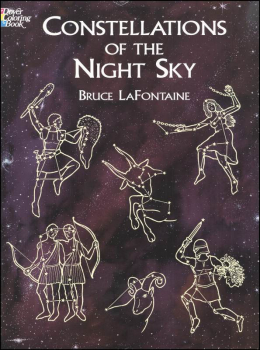 Constellations of the Night Sky Coloring Book