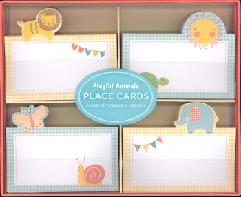Playful Animals Place Cards (Package of 24)