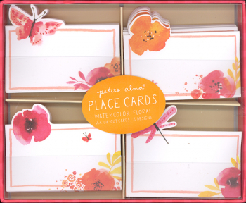 Watercolor Floral Place Cards (Package of 24)
