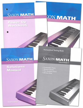 Saxon Math Intermediate 4 Comp Homeschool Kit