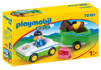 Car With Horse Trailer (Playmobil 1-2-3)