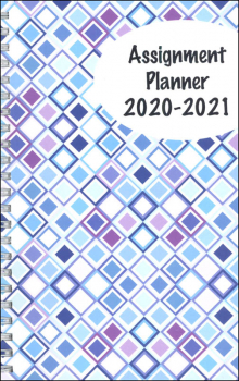 Student Assignment Planner Squares Design August 2020 - August 2021