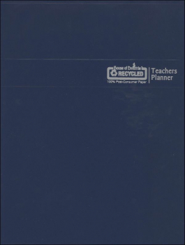 Teachers Planner - Blue Cover