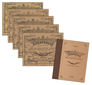 Theory Of Spencerian Penmanship Plus Five Copy Books