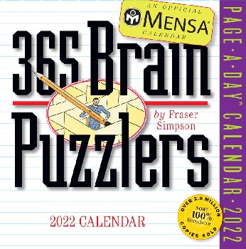 Mensa 365 Brain Puzzlers 2021 Page-A-Day  Calendar