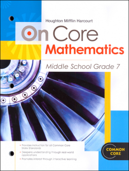 On Core Mathematics Student Edition Worktext Grade 7