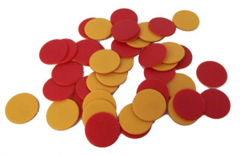 2-Colored Plastic Counters - SET OF 100