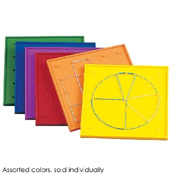 "Geoboard 7"" 5x5 pin double-sided w/ rbr bands"