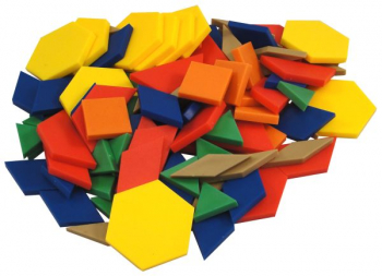 Set of 100 Plastic Pattern Blocks (.5 cm thick)