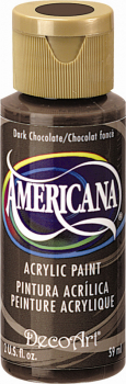Americana Acrylic Paint 2 oz Dark Chocolate