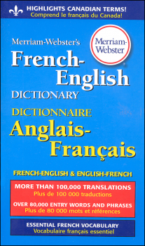 Merriam-Webster's French-English Dictionary (Mass-Market Paperback)
