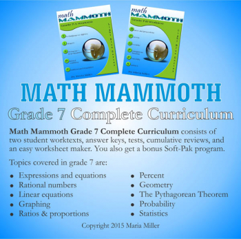 Math Mammoth Light Blue Series Grade 7 CD
