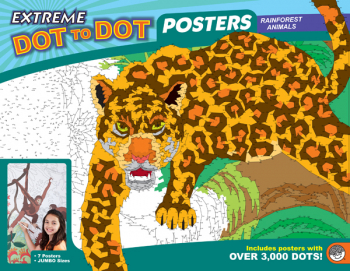 Extreme Dot to Dot Poster Pack - Rainforest Animals