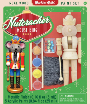 Nutcracker Mouse King Wood Paint Kit