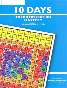 10 Days to Multiplication Mastery Workbook (64 pages)