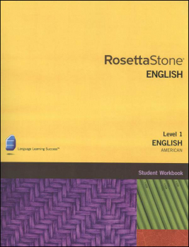 Rosetta Stone English (US) Version 3 Level 1 Workbook Homeschool Ed.