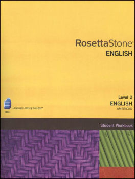 Rosetta Stone English (US) Version 3 Level 2 Workbook Homeschool Ed.