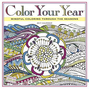 Color Your Year 2017 Wall Calendar