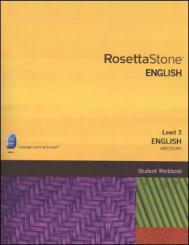 Rosetta Stone English (US) Version 3 Level 3 Workbook Homeschool Ed.
