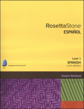 Rosetta Stone Spanish (Latin America) Version 3 Level 1 Workbook Homeschool Ed.