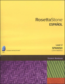 Rosetta Stone Spanish (Latin America) Version 3 Level 2 Workbook Homeschool Ed.