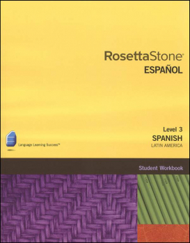 Rosetta Stone Spanish (Latin America) Version 3 Level 3 Workbook Homeschool Ed.